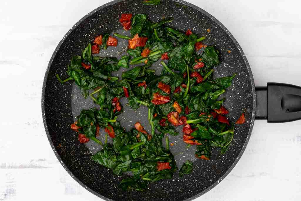 sautéed spinach and sun-dried tomatoes