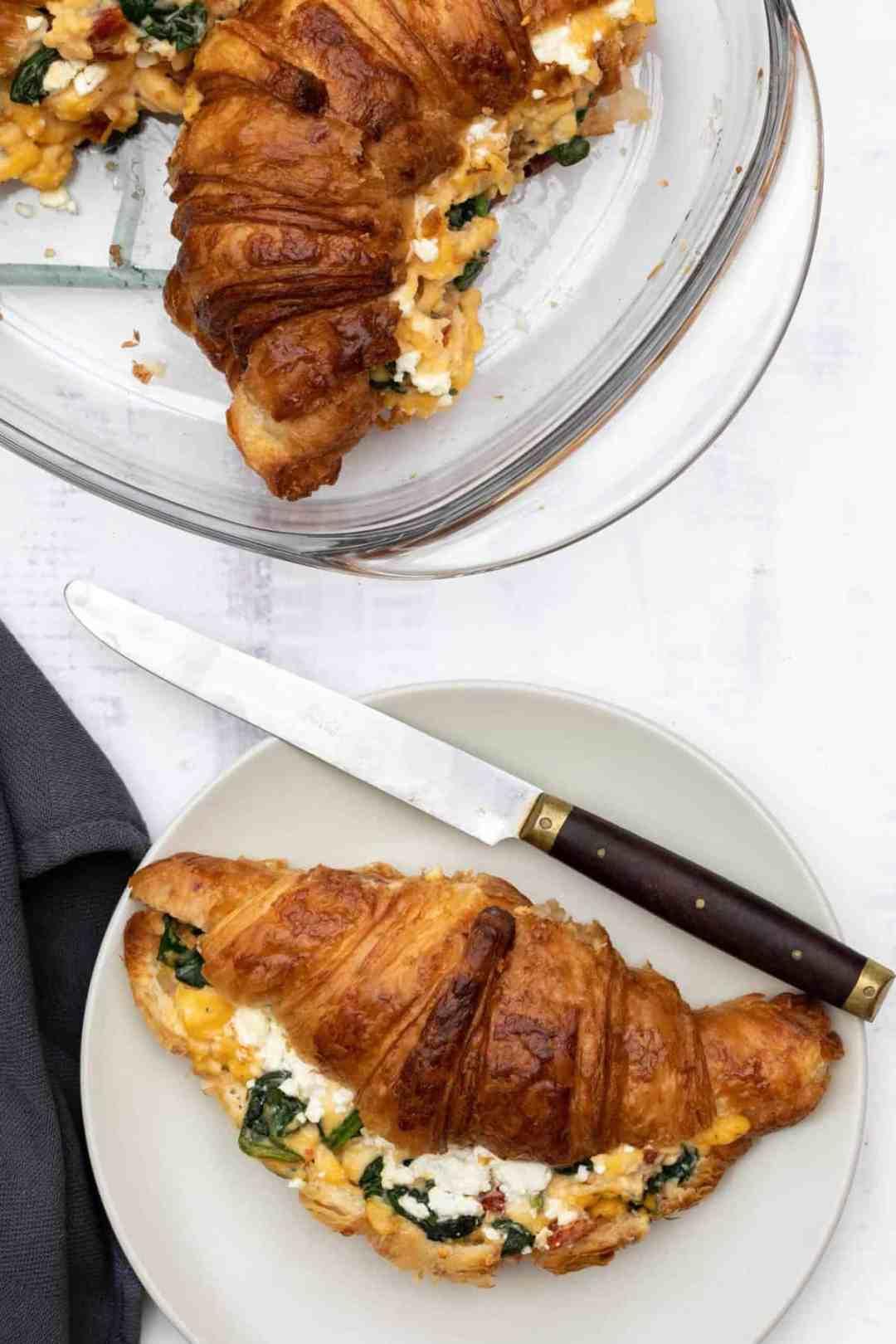 Croissant Breakfast Sandwich with Spinach - Vanilla Bean ...