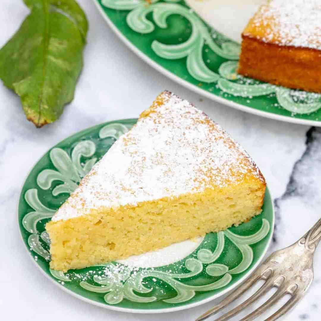 small slice of lemon ricotta cake