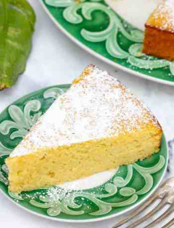 small slice of lemon ricotta cake