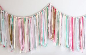 Super Easy DIY Ribbon Garland