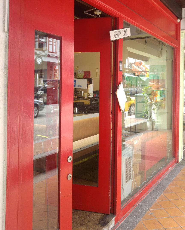 Drury Lane Red Shopfront