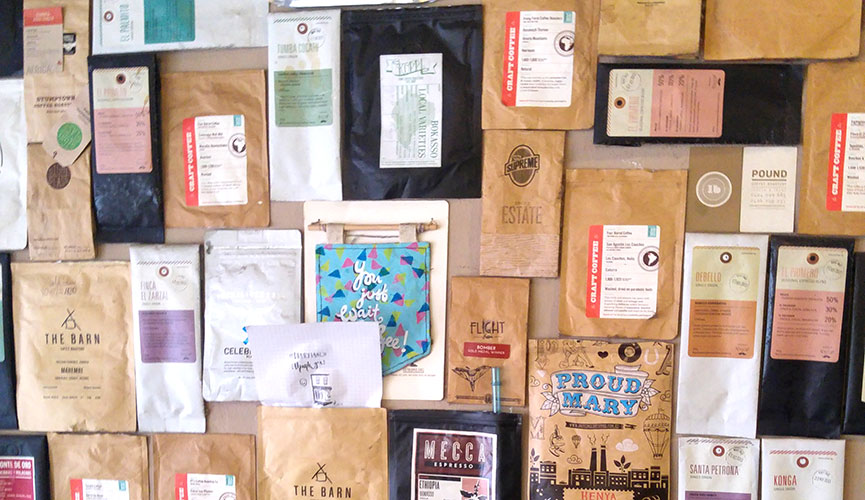 Drury Lane Coffe Bag Display