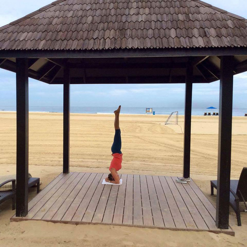 Perfecting my headstand in a perfect location.