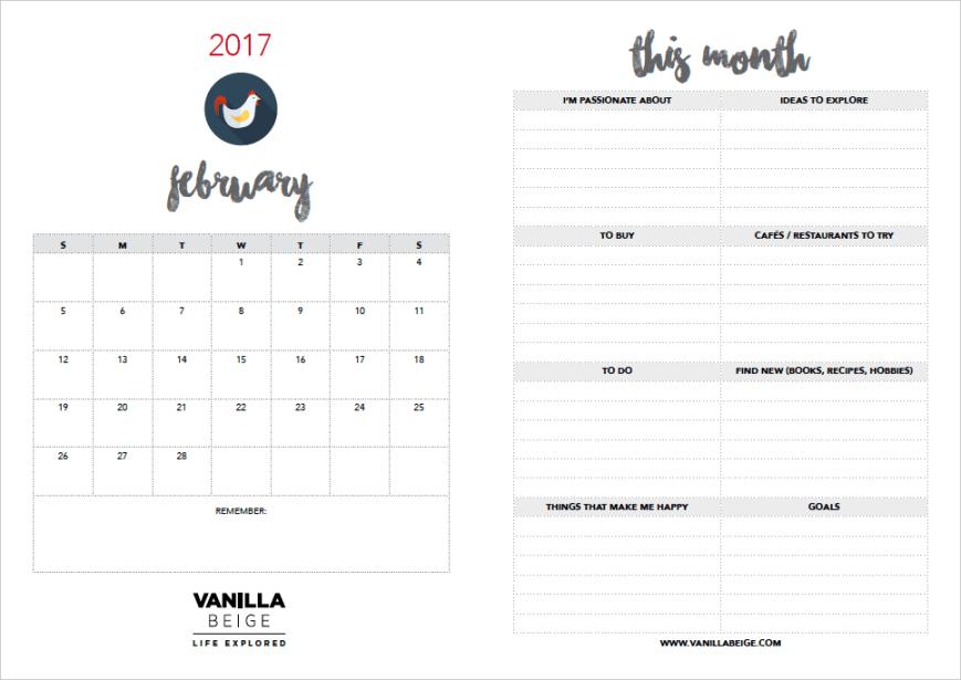 Vanilla Beige Inspiration Planner