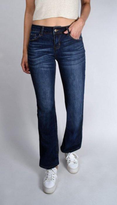 7da86513fe5 Dark Blue Mid-Rise Bootcut Jeans