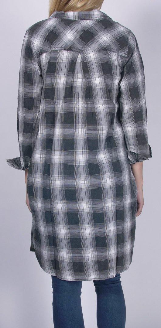 88a3e9e3 Plaid Tunic Button Down with Pockets in Black | Vanilla Star Jeans