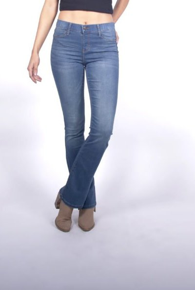 5c0810d9d68 Bray Mid Rise Pull on Bootcut Jeans