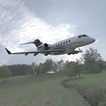 Bombardier Challenger 300 Aircraft; click for a larger image.