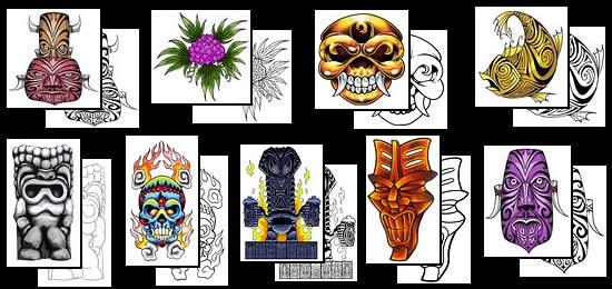 Maori / Polynesian Tattoo Designs - Maori tattooing is a distinct school of