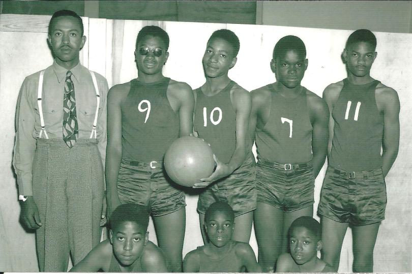 Booker T. Washing School in Stamford, Texas Basketball Team 1940s