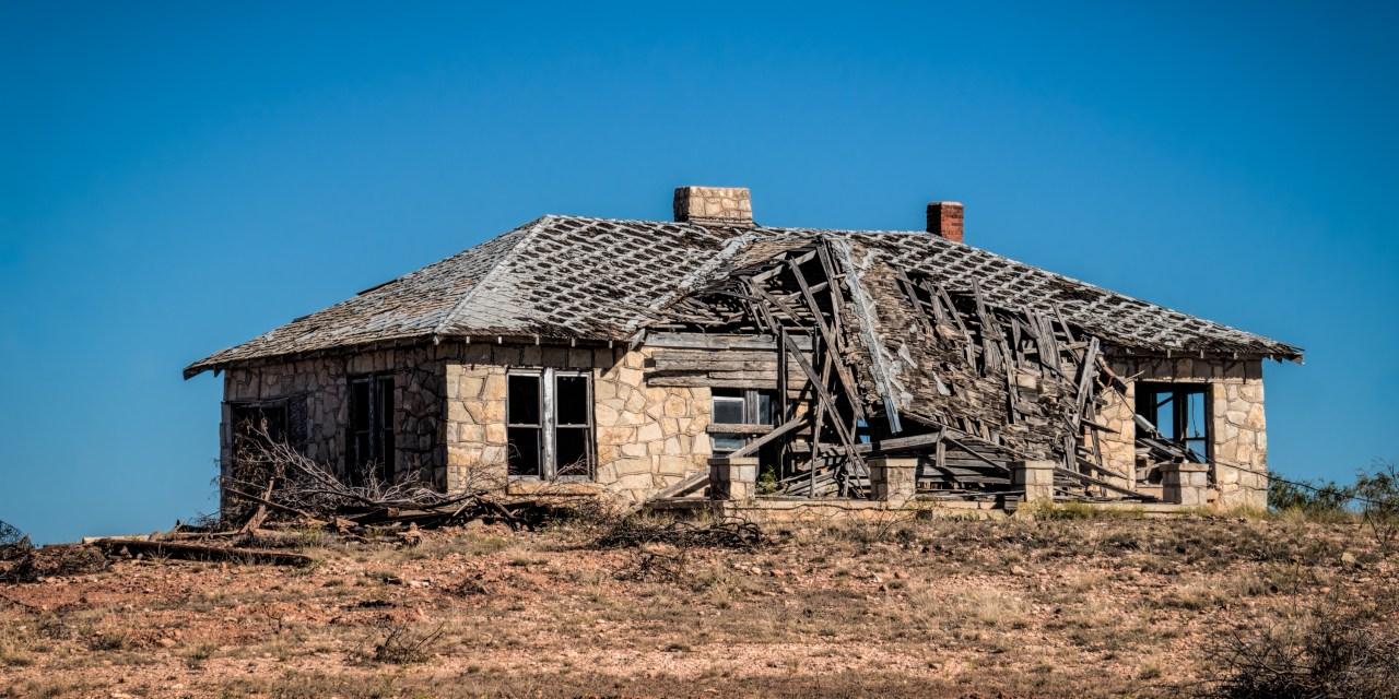 Abandoned Stone Farm House Near Hamby, Texas