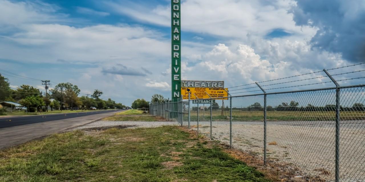 The Old Bonham Drive-In in Bohnam, Texas
