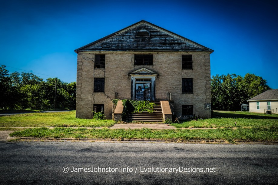 I found this abandoned building in Sherman, Texas off East College St.