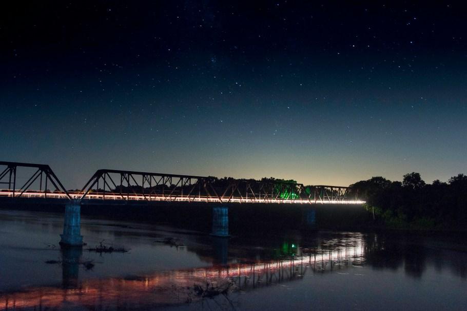Carpenter's Bluff Bridge at Night
