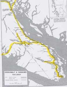 E & N Railway VI 1871 Route