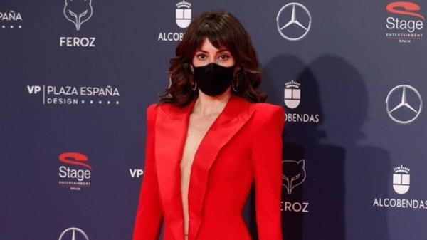 La actriz Eva Ugarte ha acudido a los Premios Feroz 2021