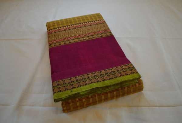 Chettinad Handloom Cotton Kattam Sarees
