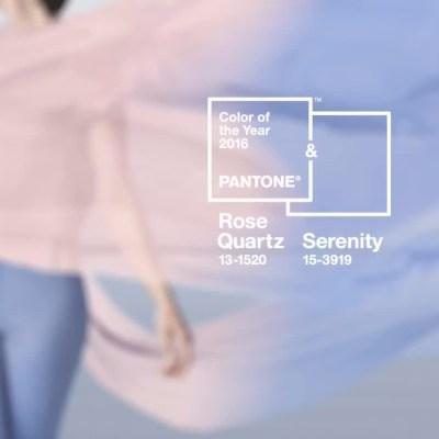 Rosa Cuarzo & Serenity · Colores del 2016