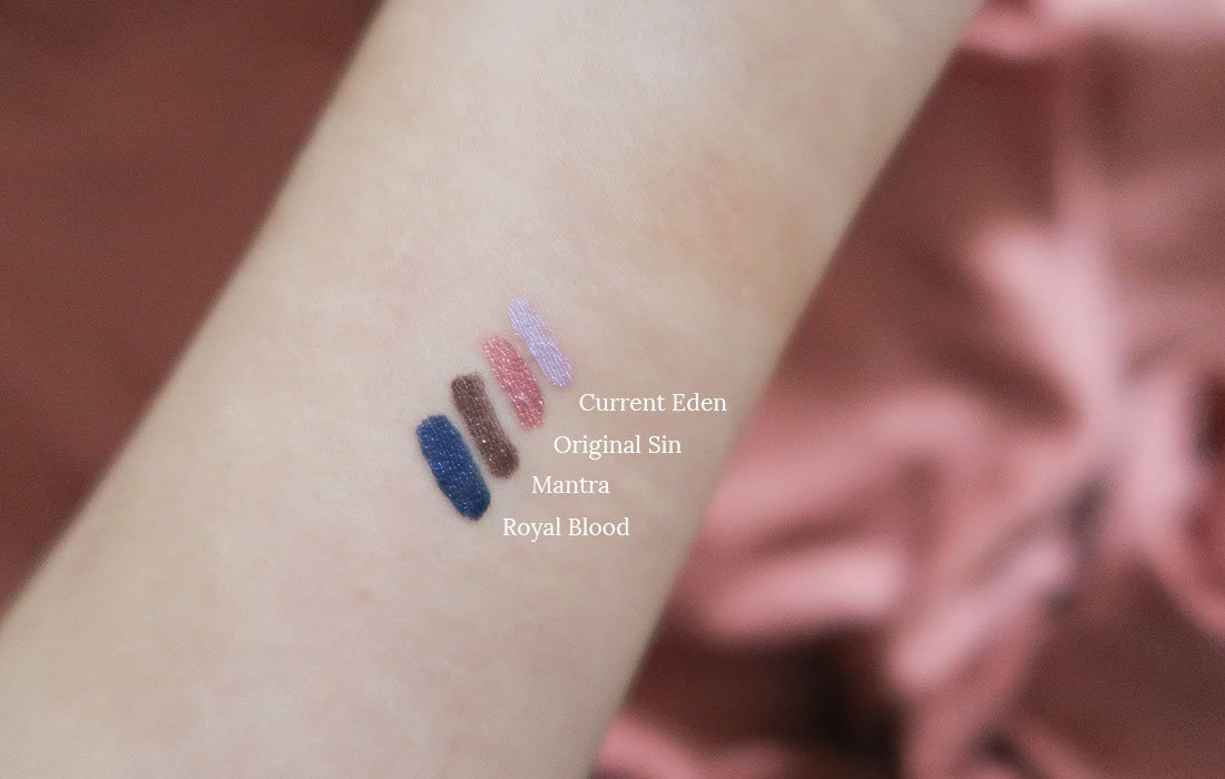 Dazzle Liner Eyeliners de Nabla colección SOUL BLOOMING Swatches