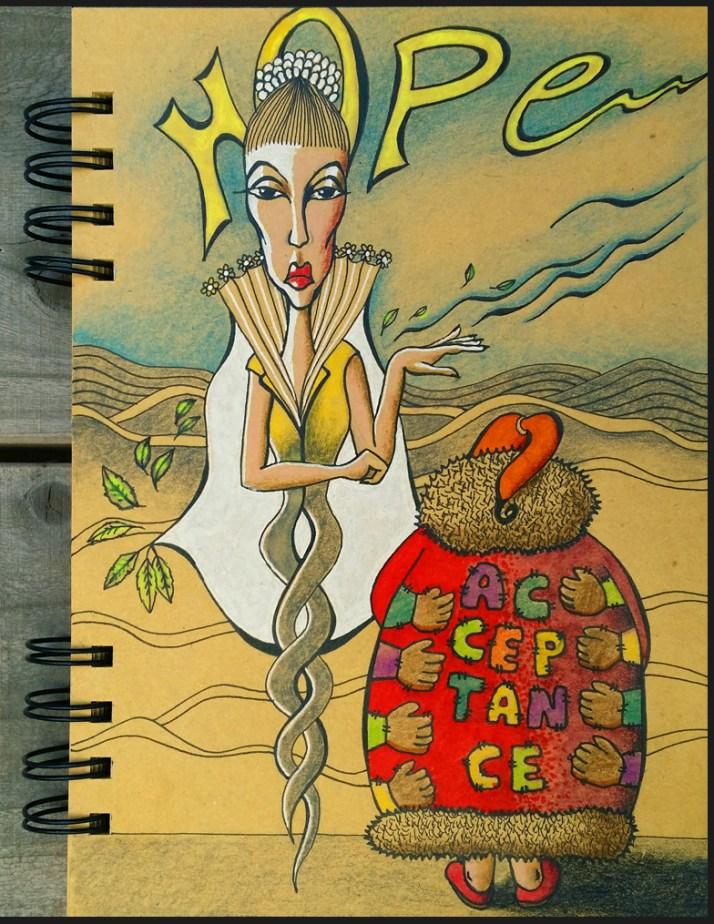 20170106_day15, Art journal: Hope