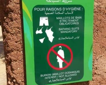 Burkini verboden