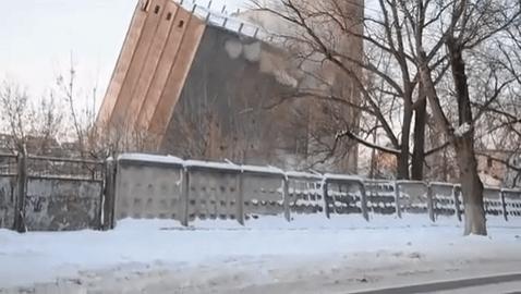 gebouw instorting stopt