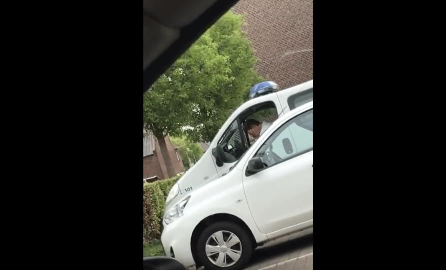 slapende politieagent hasselt