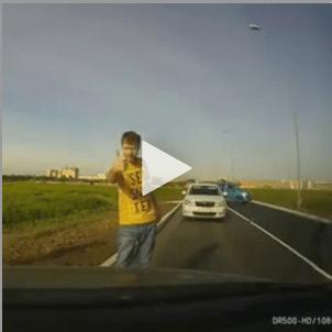 idoten botsen auto's fail rusland