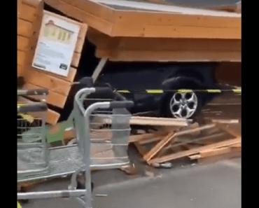 makro machelen auto vrouw carport tuinhuis