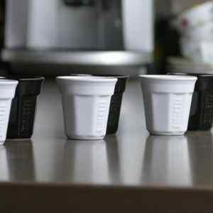 Bialetti I Bicchierini Espresso koppen wit - 6 stuks