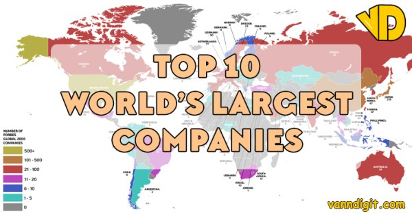 Top 10 World's Largest Companies in 2018