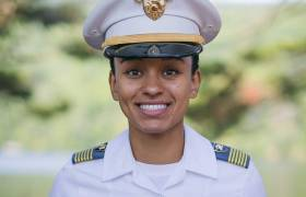 20-year-old Cadet Simone Askew, the 1st Black woman to lead the Corps of Cadets [Press Photo]