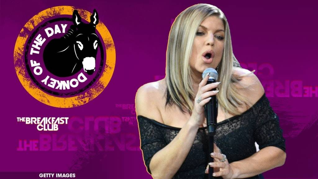 #DonkeyOfTheDay: Fergie Botches The National Anthem @ NBA All-Star Game