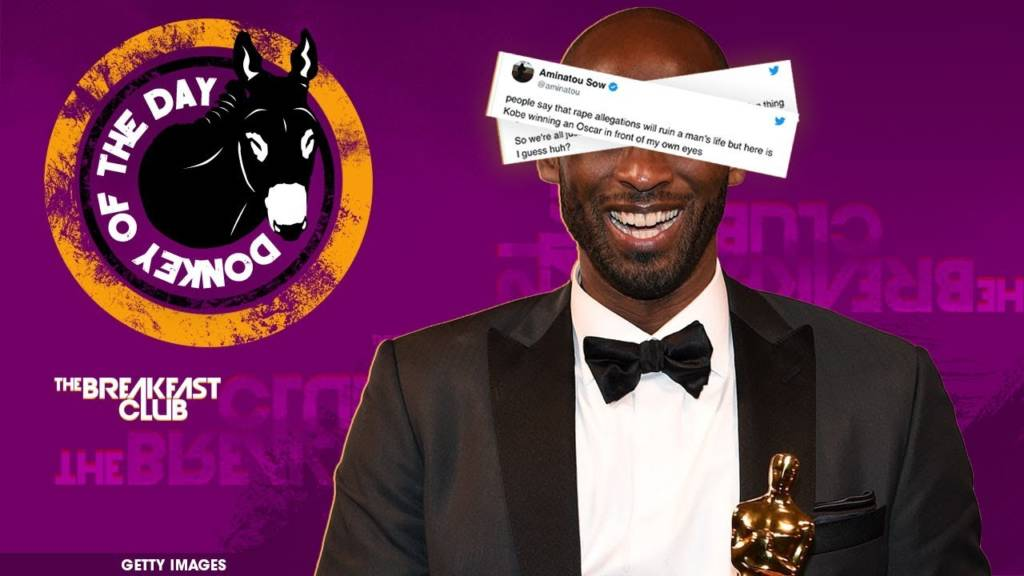 #DonkeyOfTheDay: Kobe Bryant Dragged For Sexual Assault Allegations After Winning Oscar
