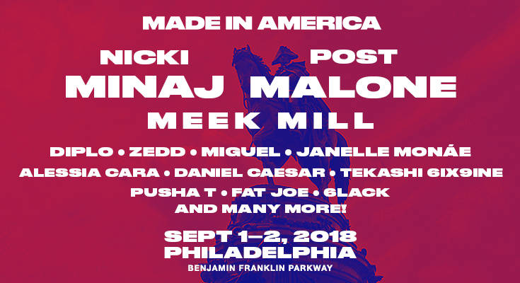 Daniel Caesar, Tekashi 6ix9ine, Pusha T, Lil Skies, & More To Put On At Made In America 2018