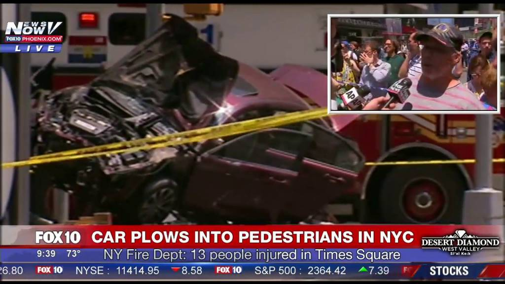 Car Jumps Curb & Crashes Into Crowd In NYC Leaving 1 Dead & Many Injured