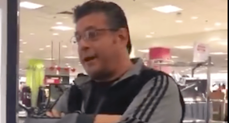 Mall Customers Ride Down On Racist White Man After He Disses Arabs & Democrats