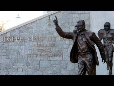 Video: Joe Paterno Statue Removed From Penn State