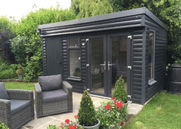 Metal garden shed