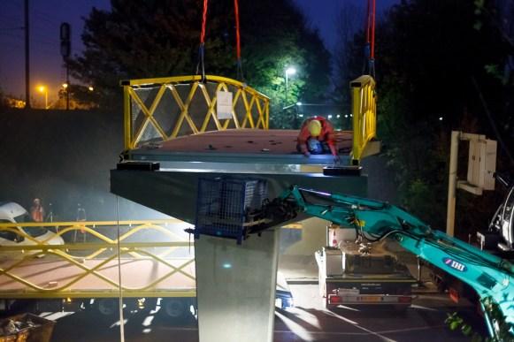plaatsing brugdek - Westervoort