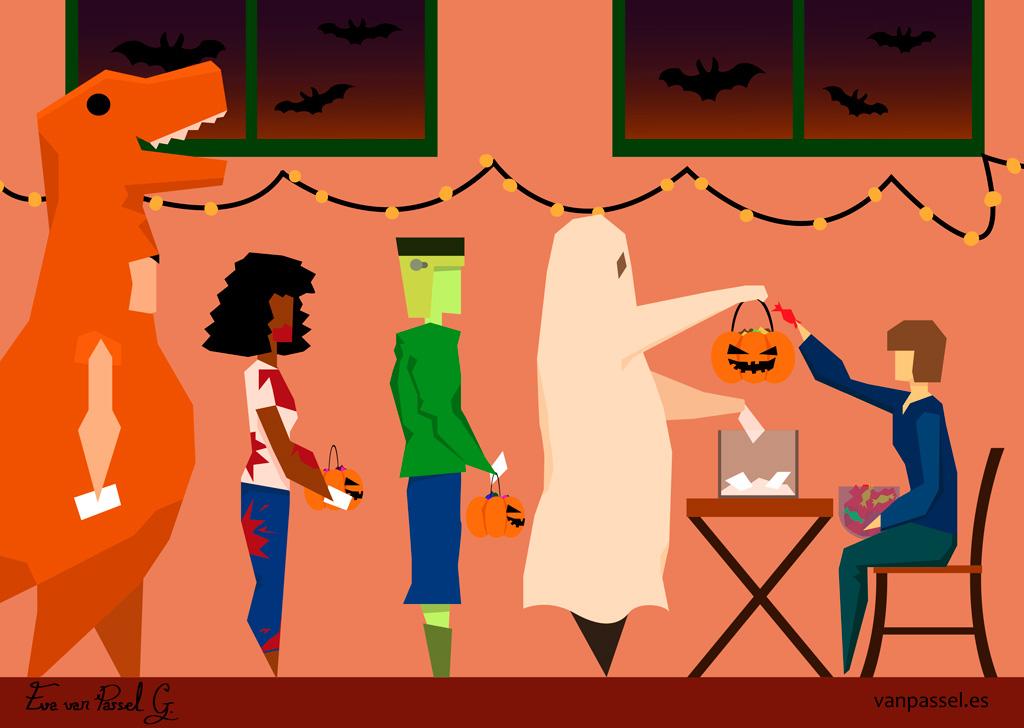 Truco o voto - Halloween