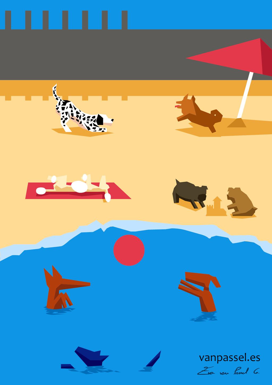 Playas terapéuticas   dibujo playa canina