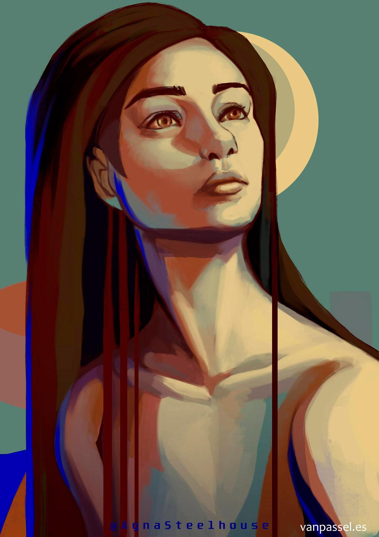 Portrait woman girl - retrato mujer joven