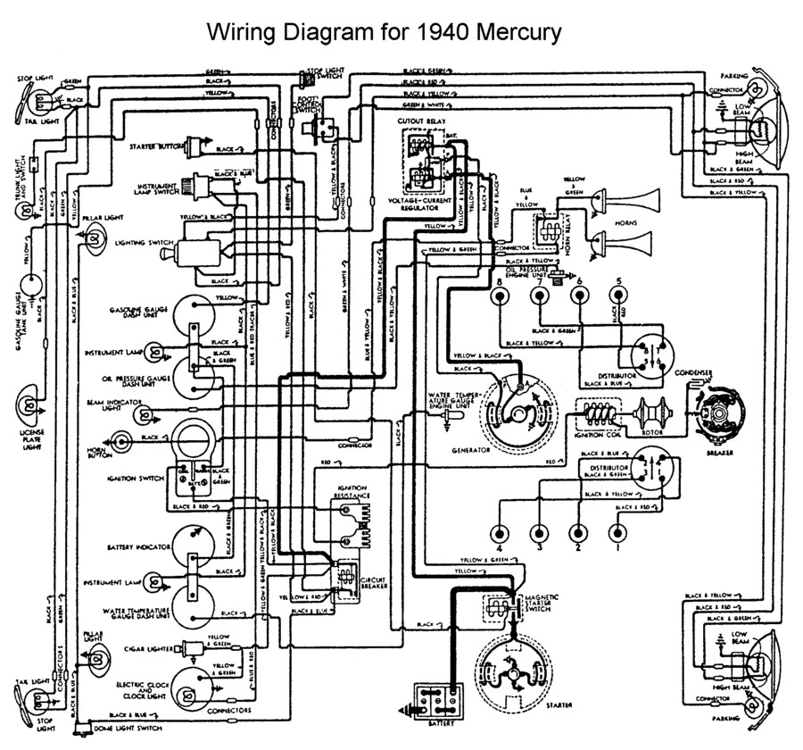 1940 Plymouth Wiring Diagram