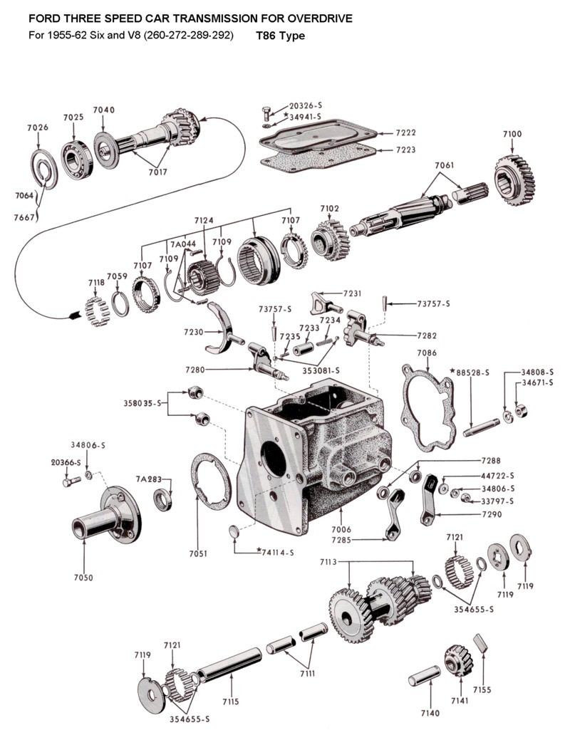 Flathead parts drawings transmissions rh vanpeltsales ford ranger with 302 engine diagram of pontiac 301 engine