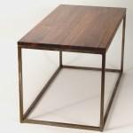 Modern Metal Box Frame Coffee Table Solid Wood Living Room Custom Table Vanport Furniture