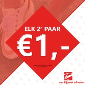 Elk 2e paar €1,- | Van Rijbroek