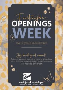 Openingsweek Van Rijbroek