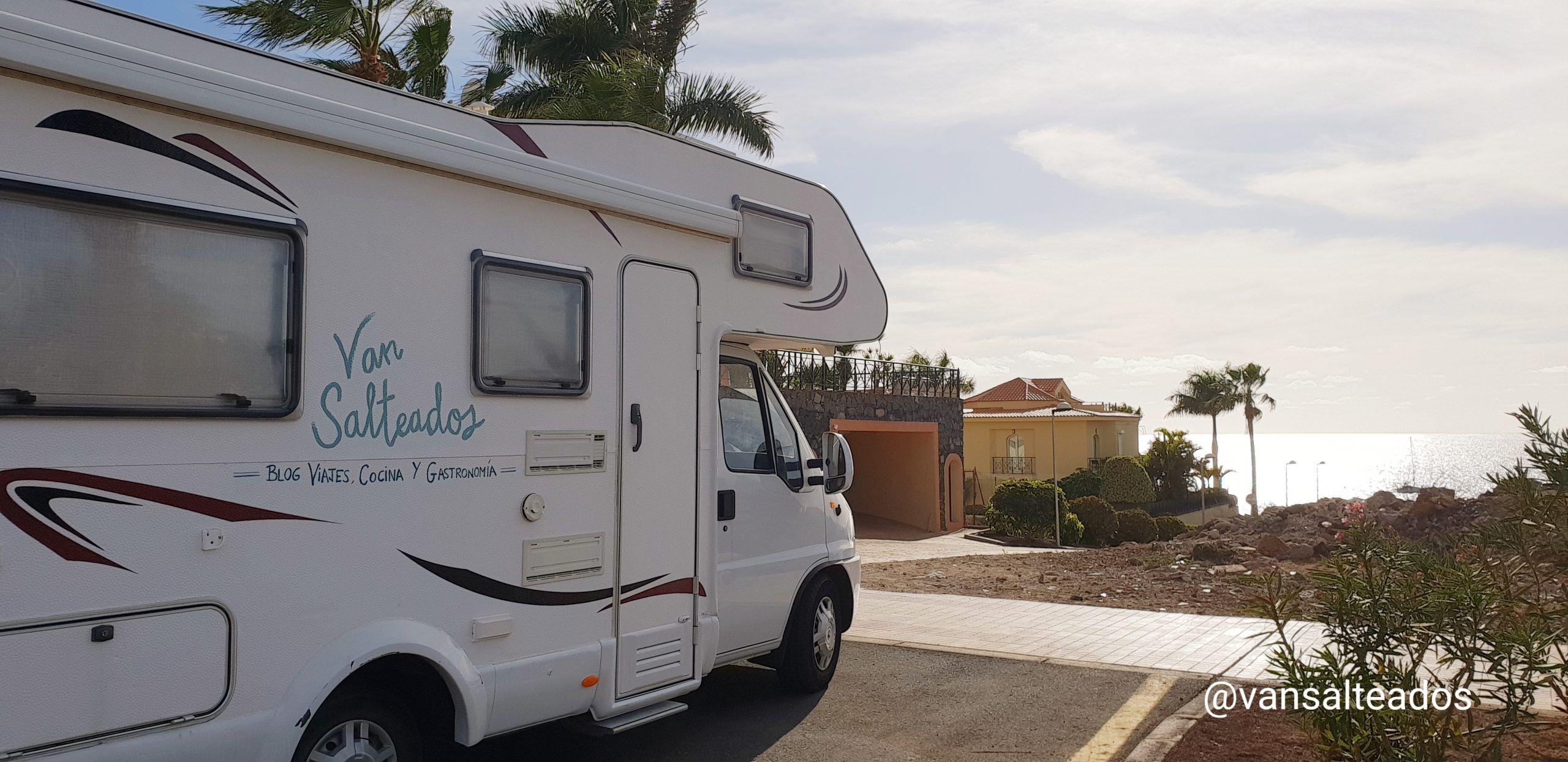 caravana en Los critianos, Tenerife
